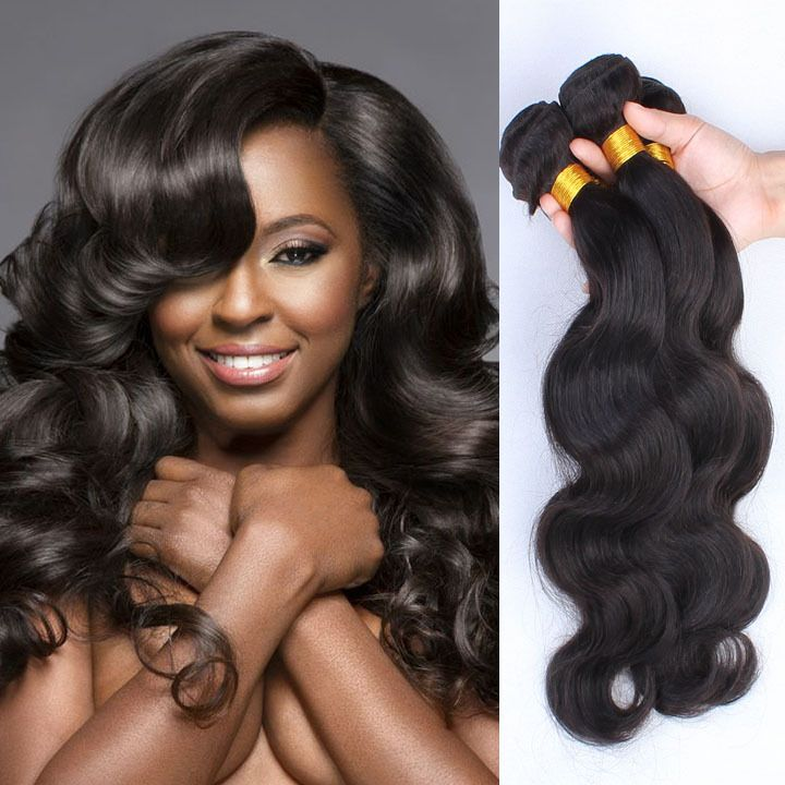 Unprocessed Indian Virgin Hair Body Wave 3 Bundles 100gpcs Weave