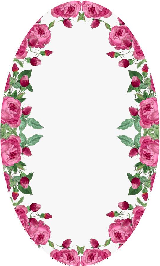 free printable rose framed tags – ausdruckbare Etiketten mit Rosen ...