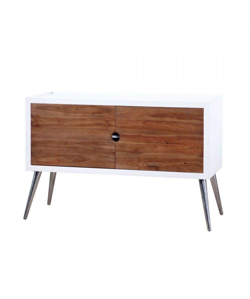 moderno 2 door teak cabinet home office furniture