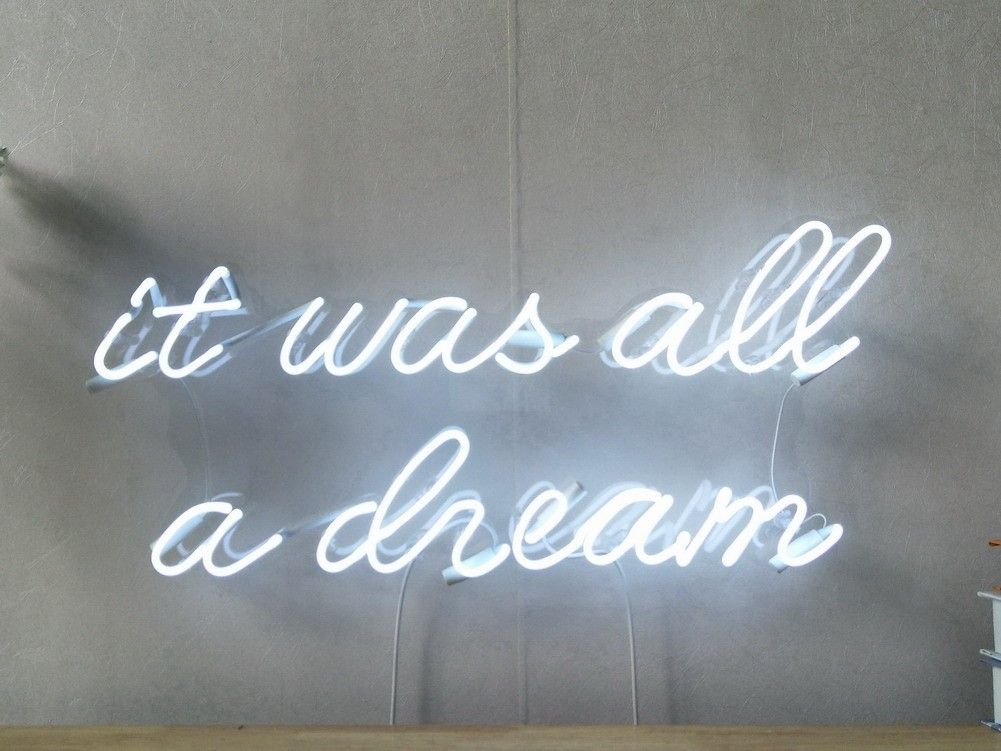 It Was All A Dream Real Glass Neon Sign For Bedroom Garage Bar Man Cave Room Home Decor Handmade Artwork Wall Lighting Includes Dimmer #garagemancaves