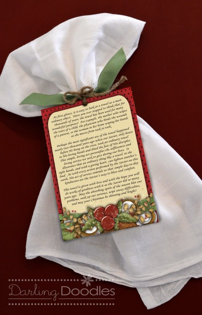 christmas towel poem simple gift for giving www247momscom 247moms