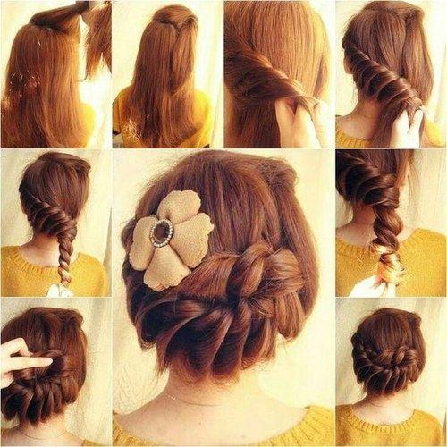 Diy Braided Updo Diy Diy Ideas Easy Diy Diy Beauty Diy Hair Diy Fashion Beauty Diy Diy Bun Diy Style Diy H Elegant Braided Hairstyle Hair Styles Diy Hairstyles