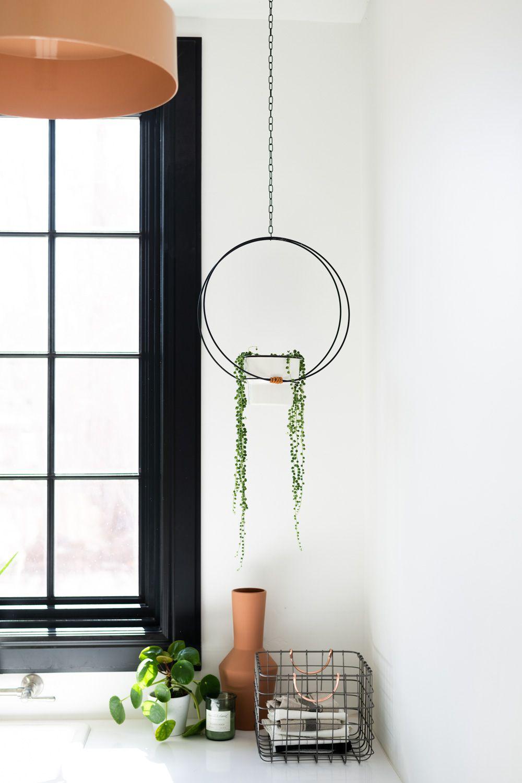 Diy Hanging Hoop Planter Hanging Plants Indoor Hanging Planters Hanging Plants