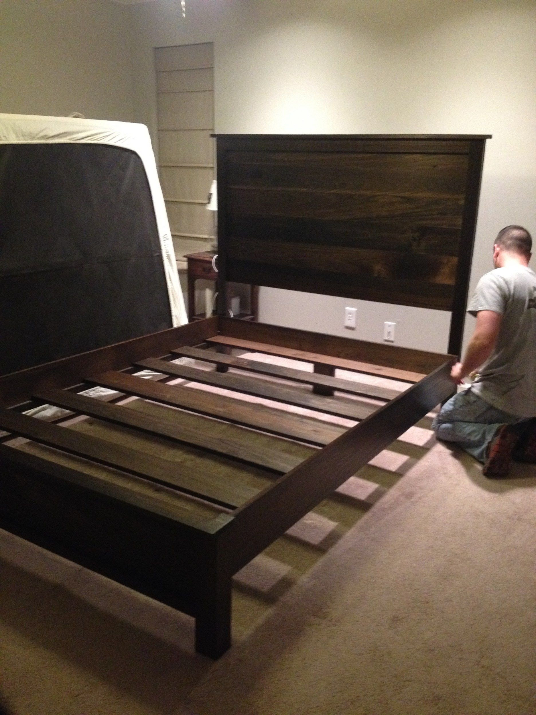 Headboard and Bed Frame DIY Diy bed frame, Homemade