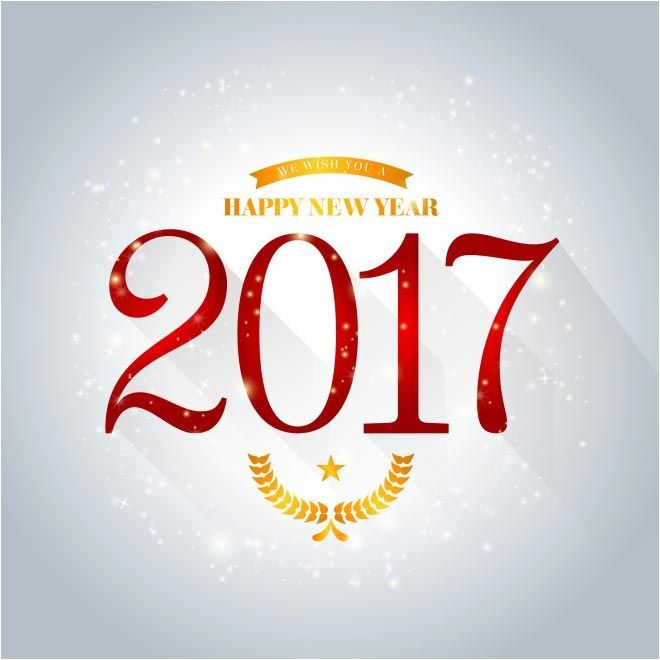 Free Vector Happy New Year 2017 Background Http Www Cgvector Com