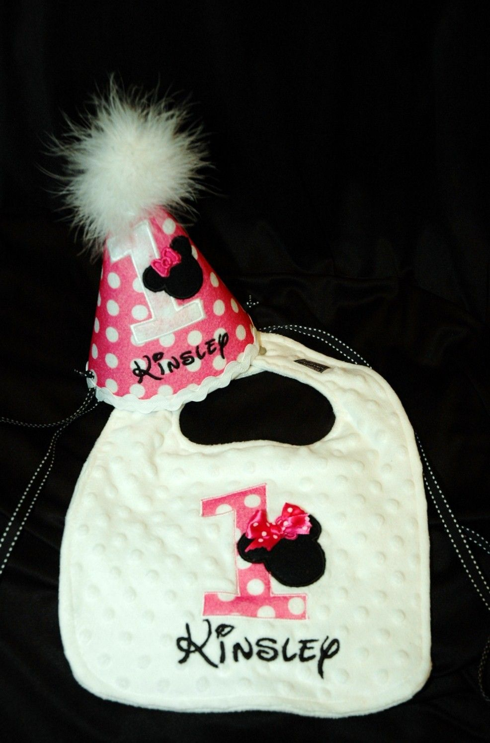 1st Birthday Girl Bib And Hat Combo By Sunshinedaydream4u