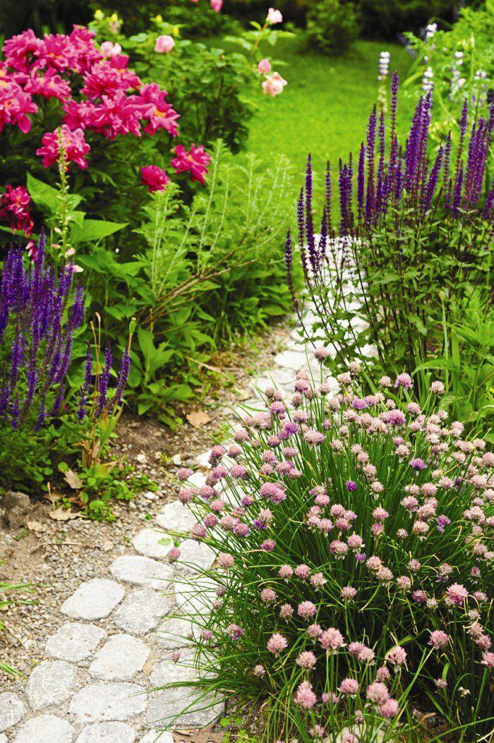 Schön Gartengestaltungsideen Gartenweg Gestalten Pflanzen Dekoideen Garten