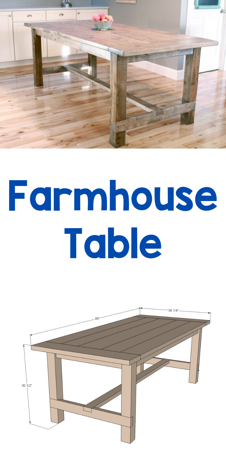 Photo of Farmhouse Table – Updated Pocket Hole Plans | Ana White
