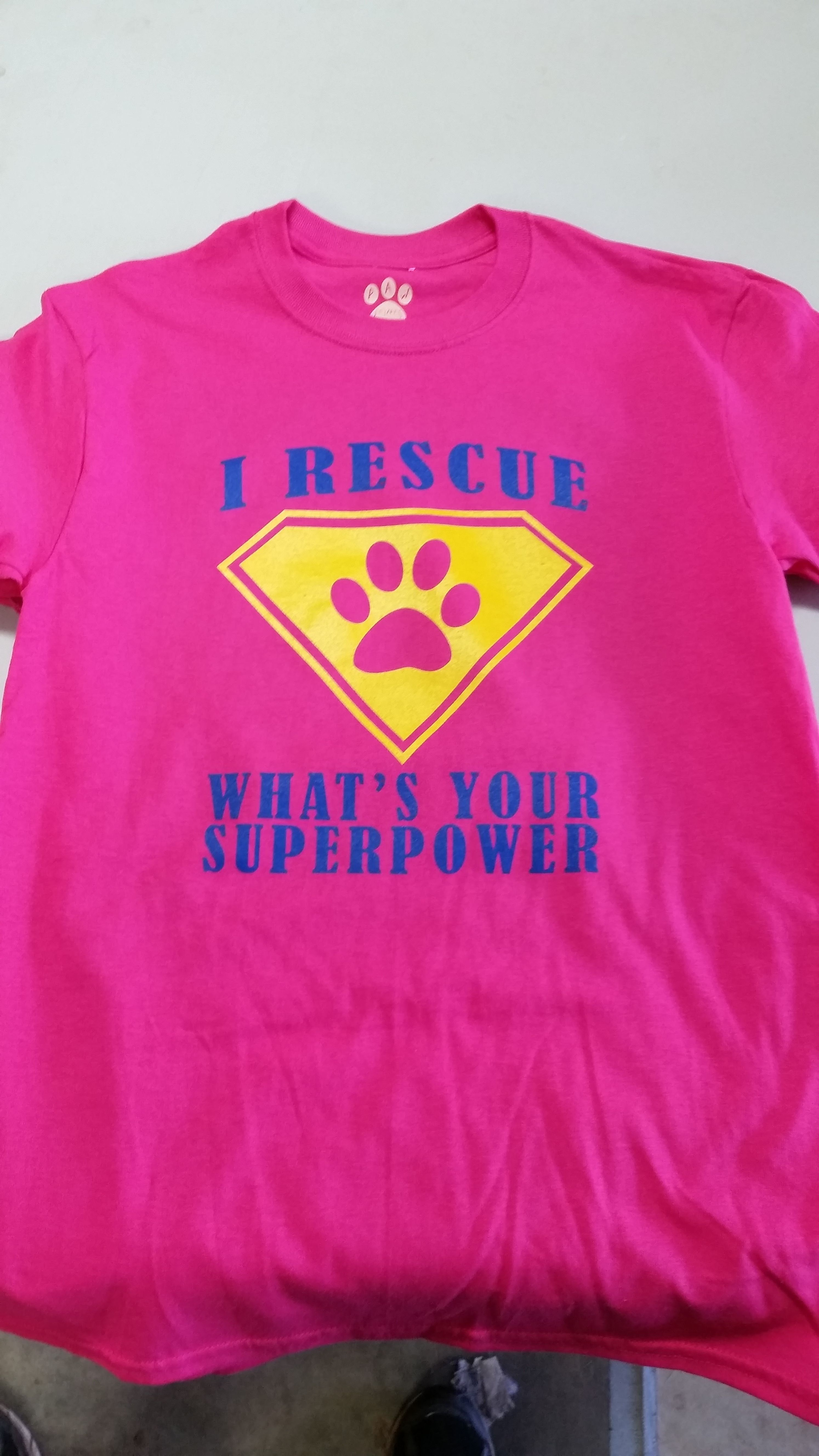 This is the women's version of the Rescue Rangers logo that we did.  We love to help out the rescues!