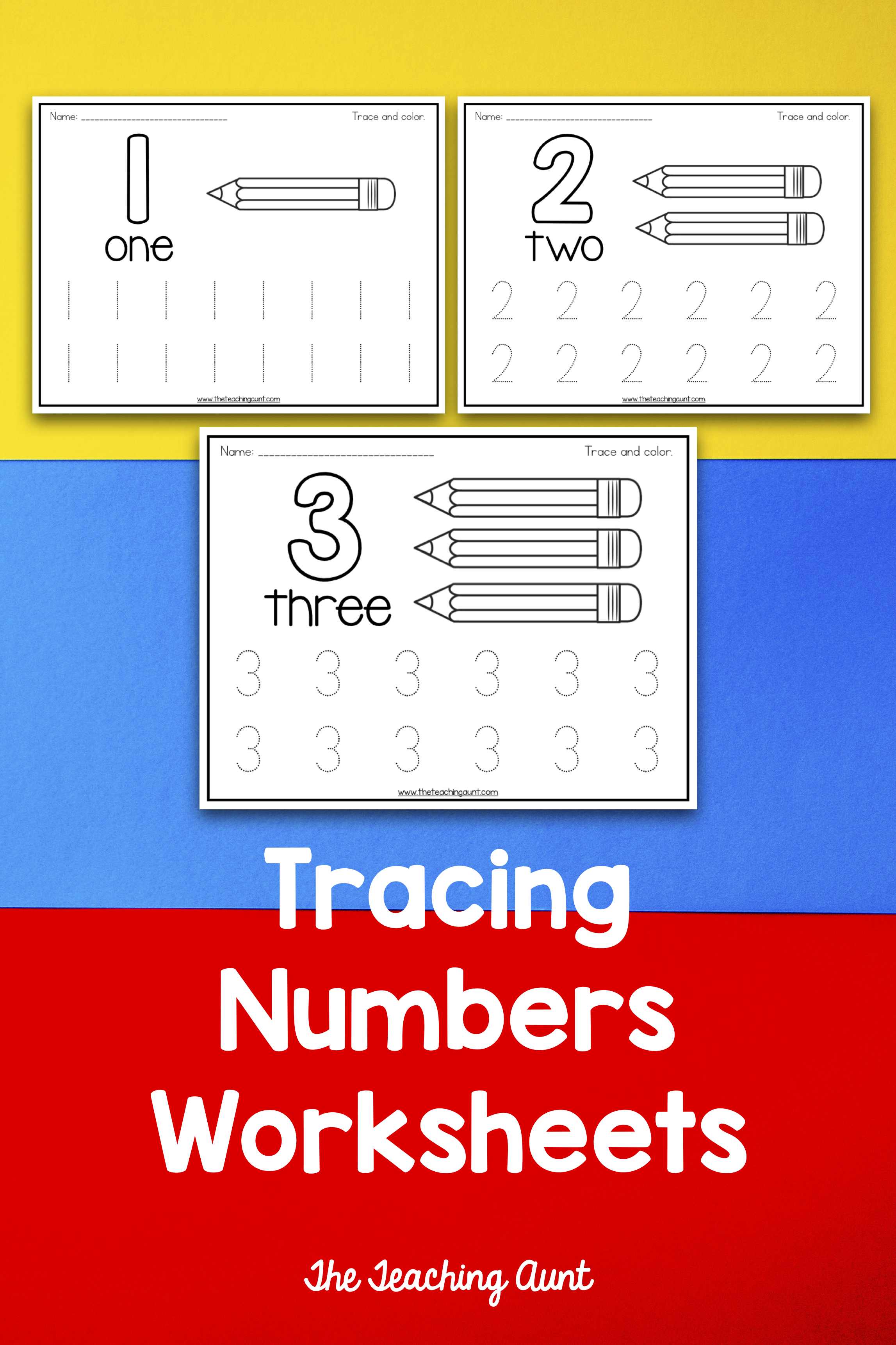 Trace And Color Number Pages