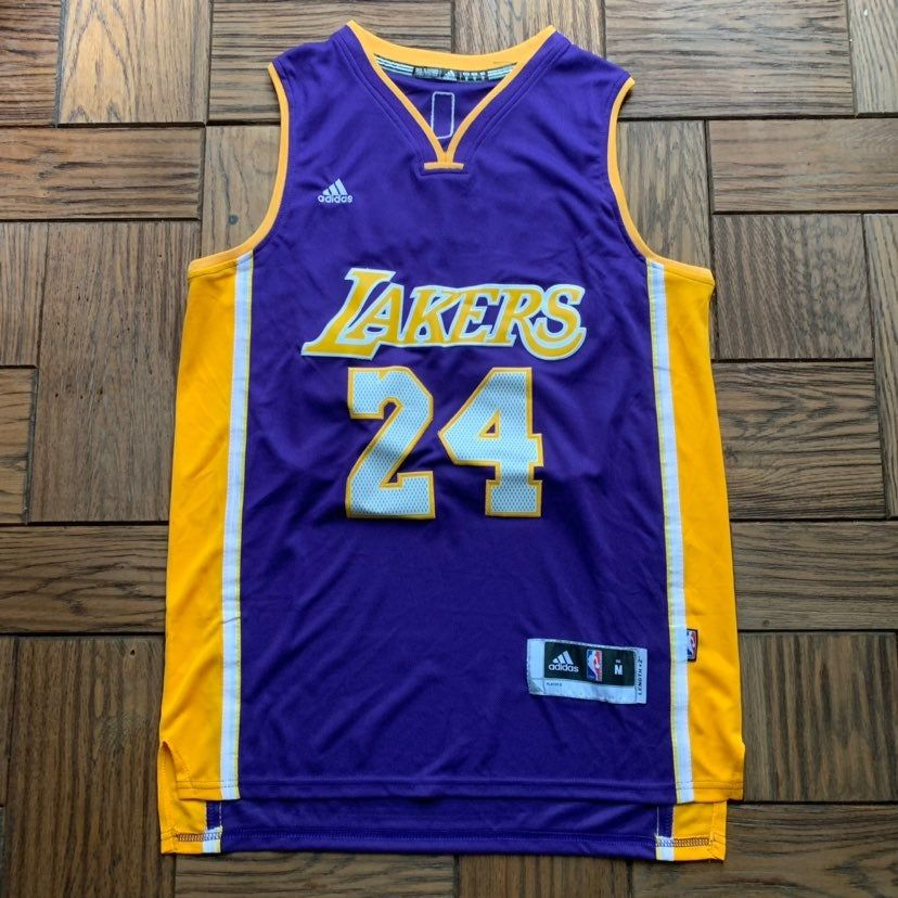hot sale online 0fae6 a3bd2 Purple Gold Kobe Bryant Vintage Lakers Jersey Adidas ...