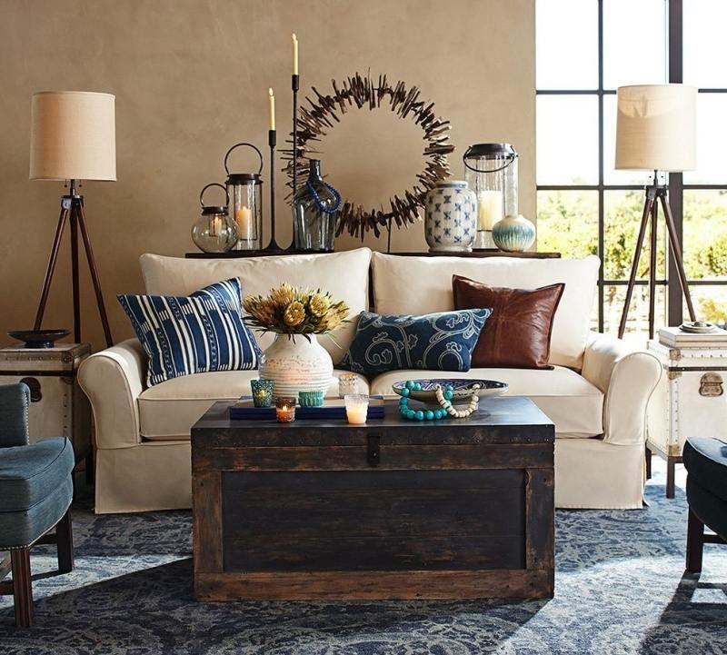 dekoration im landhausstil für das wohnzimmer selber basteln ...