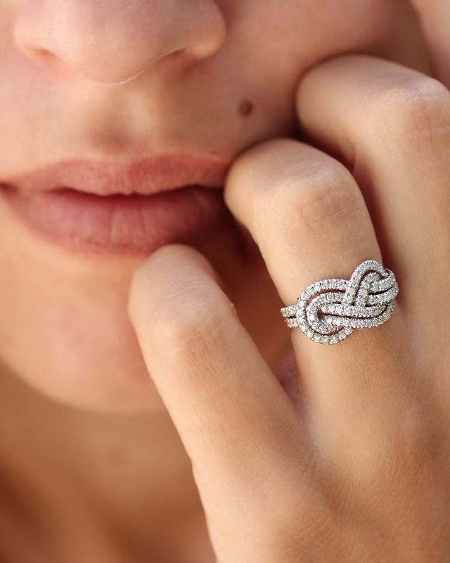 silver ct diamond tw p t sterling in double infinity ring v w