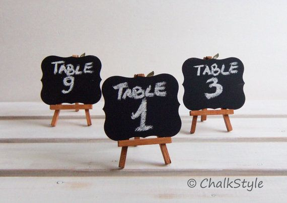 3 Chalkboards With Stand Wedding Table Numbers By Chalkstyle 14 95