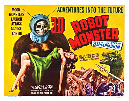 Robot Monster 3d Vintage Horror Movie Poster Wall Art Museum Outlets Robot Monster Classic Monster Movies Movie Monsters