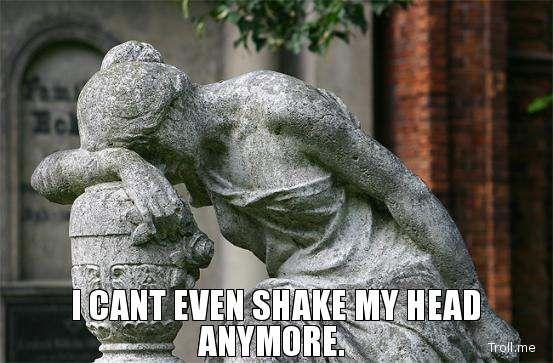 b1b9d74933dd372811949b70c67c2011 i cant even shake my head anymore meme pinterest humor, meme