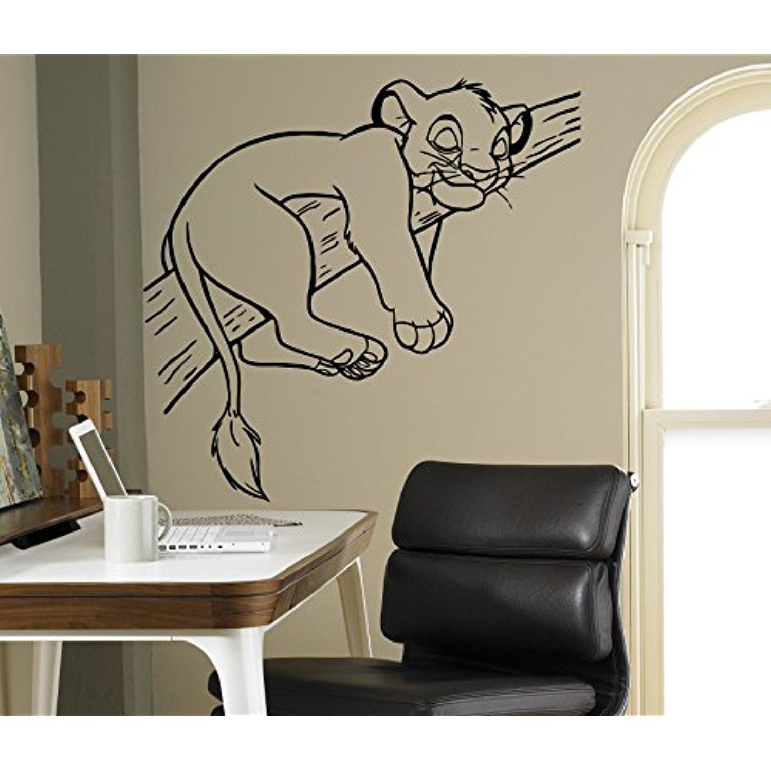 Simba Lion King Wall Decal Disney Cartoons Vinyl Sticker Home Interior  Removable Decor Children Kids Room