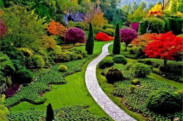 Uno de los mas hermosos jardines del mundo, Victoria, BC, Canadá