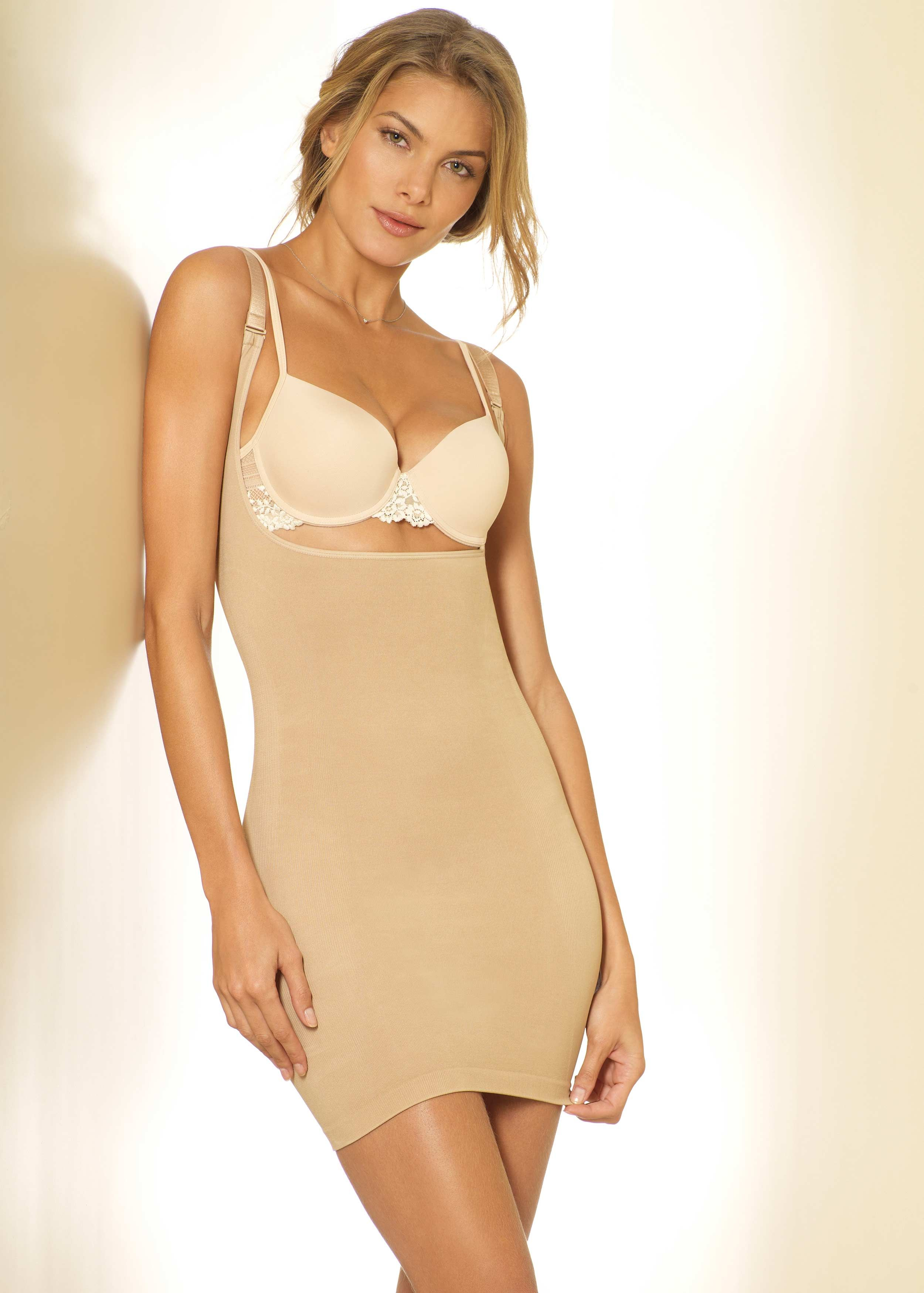 Firm control body shaping slip dress iconoflash