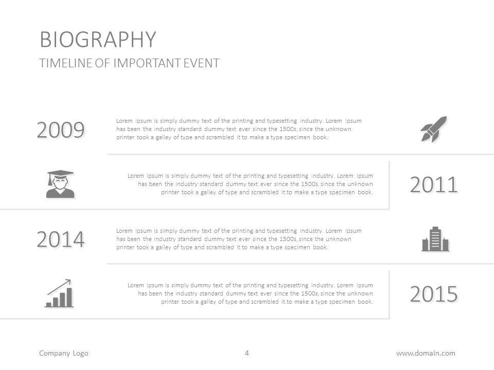Biography presentation slide up for grabs from Sept 28 to Nov 4