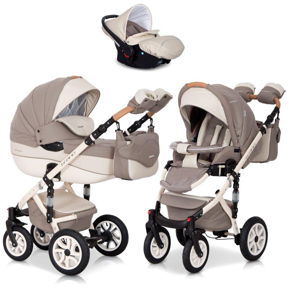 Brano Ecco Cafe Latte 3in1 Kombi Kinderwagen Babywanne Buggy