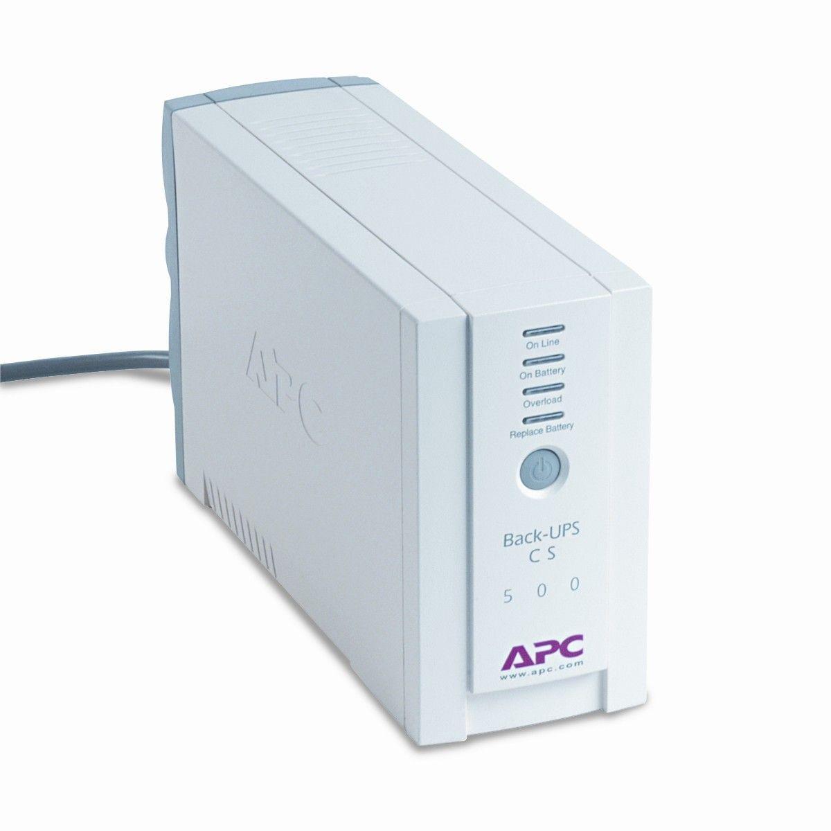 Back-UPS CS Battery Backup System Six-Outlet 500 Volt-Amps ...