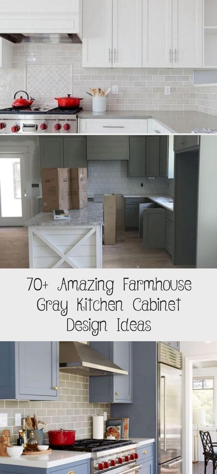 70 Amazing Farmhouse Gray Kitchen Cabinet Design Ideas Pinokyo In 2020 Grey Kitchen Cabinets Kitchen Cabinet Design Kitchen Cabinets