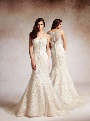luxurious beaded mermaid gown.