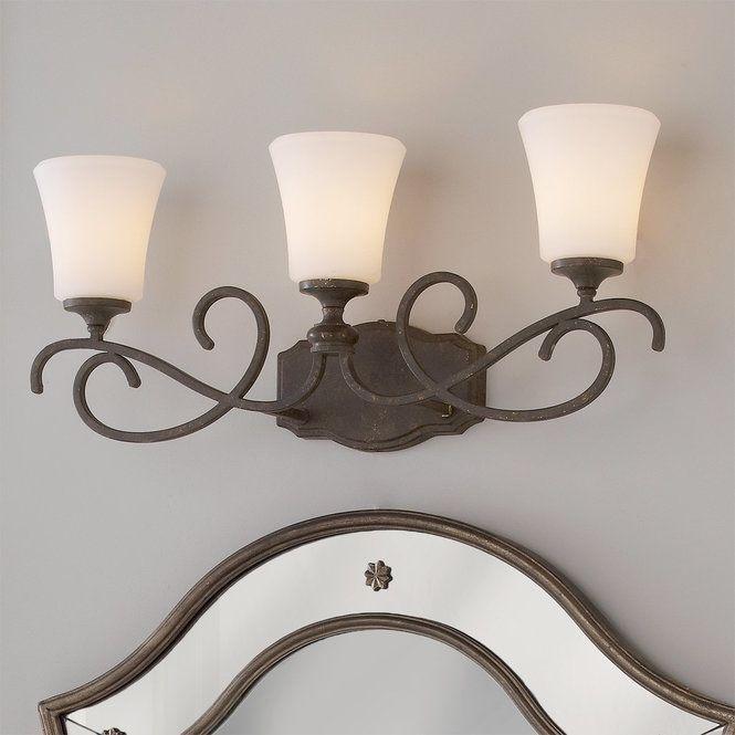 Weathered French Country Bath Light 3 Bathroom Lighting Fixtureslighting