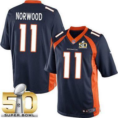 Men's Denver Broncos #11 Jordan Norwood Navy Blue Alternate 2016 ...