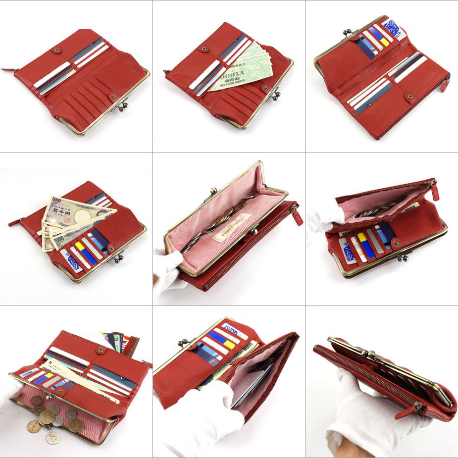 楽天市場 送料無料 がま口財布 長財布 二つ折り Kununurra カナナラ レディース 本革 財布 ソフトレザー 羊革 シープスキン 折り財布 がまぐち おさいふやさん がま口財布 がま口 財布 がま口