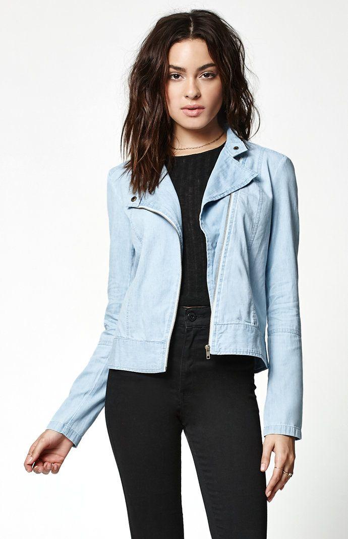 Jealous Denim Moto Jacket  #Denim #jacket #jean #pacsun