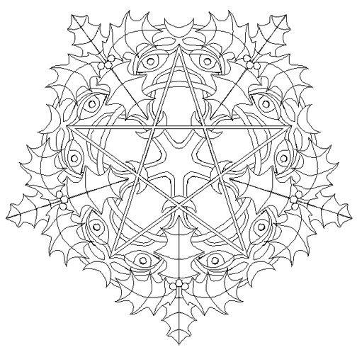 Yule Mandala By Mandalamama On Deviantart Pagan Christmas Book Of Shadows Coloring Pages