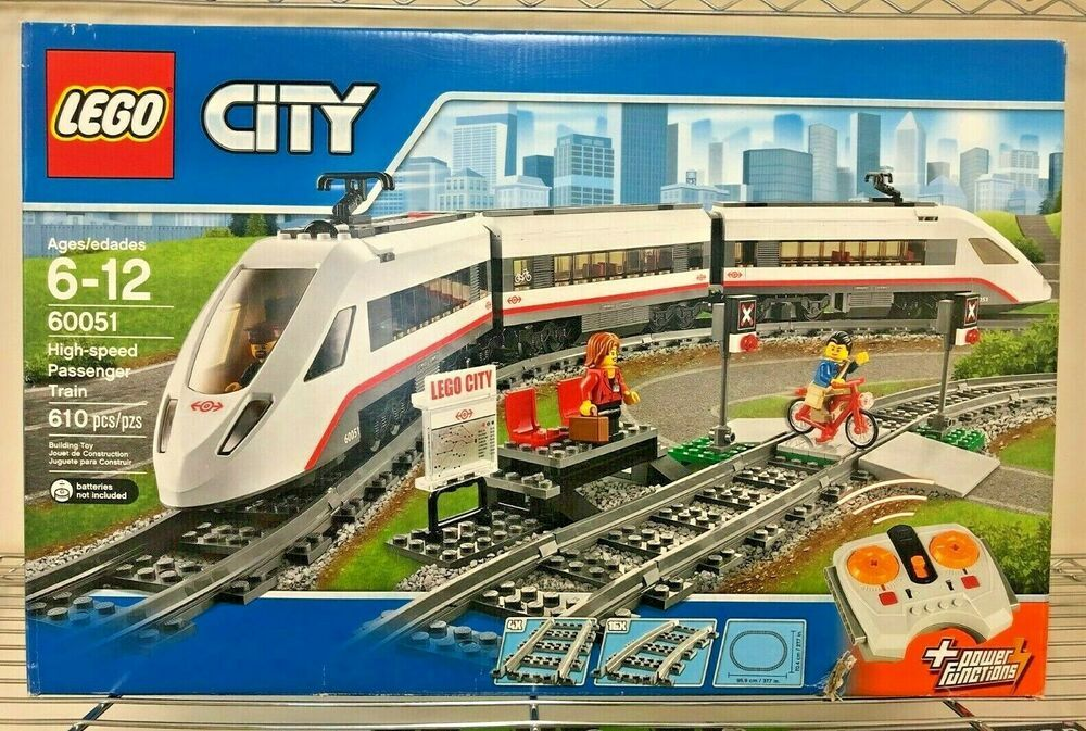 Lego City High Speed Passenger Train 60051 2014 Retired Set Distressed Box Lego City Lego City Train Lego City Cargo Train