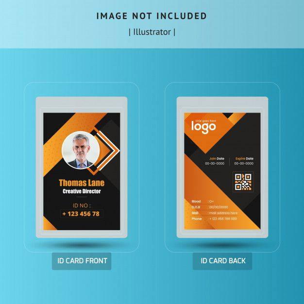 Abstract Dark Id Card Template Vector Design Id Card Template Graphic Design Business Card Name Card Design