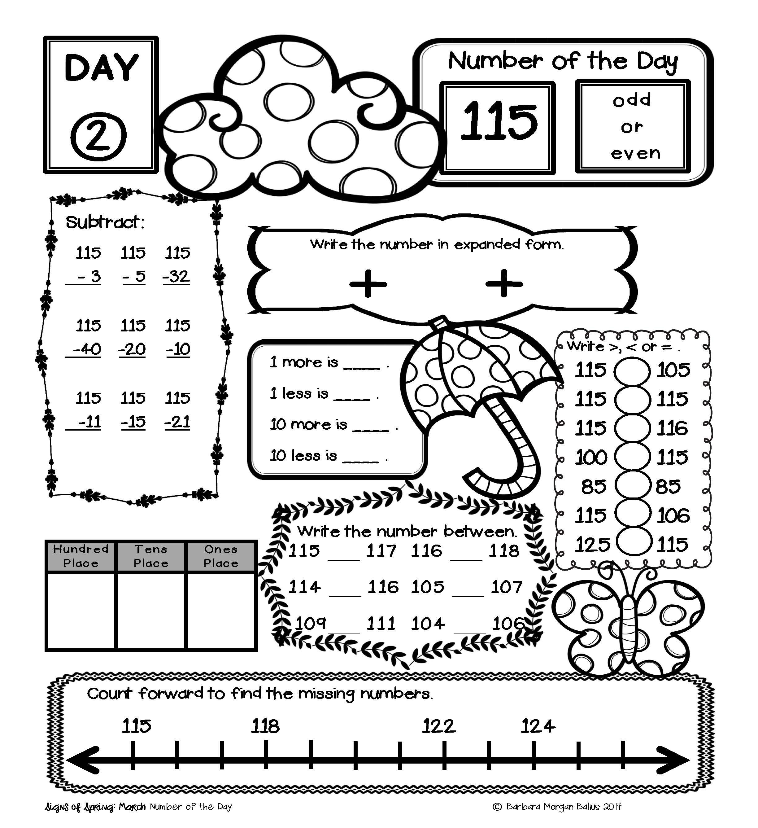Place Value Number Sense Practice Number Of The Day