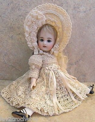 VICTORIAN STYLE CROCHETED DRESS SET FOR 7- 7 1/2 ALL BISQUE DOLL* by Tina | #535032594 #dollvictoriandressstyles