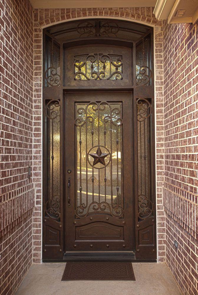 Custom Texas star iron door unit aaleadedglass.com & Custom Texas star iron door unit aaleadedglass.com   Wrought Iron ... pezcame.com