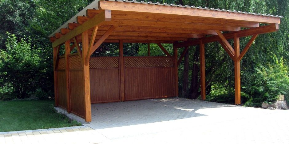 Car Canopy Wood : Https google search q wooden carport driveway