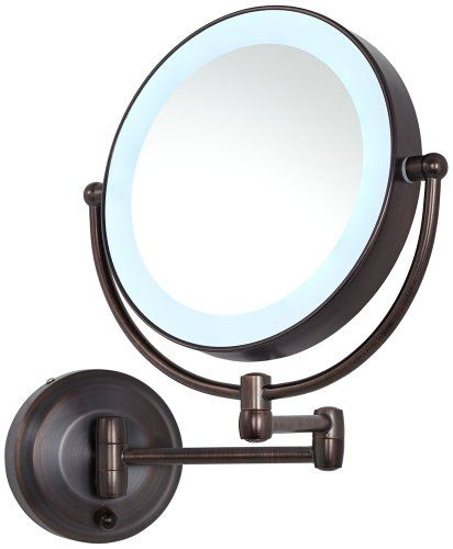 Cordless Led Pivoting 9 Wide Oil Rubbed Bronze Wall Mount Mirror Zadro Http Www Amazon Com Dp B00bqdo1tg Makeup Mirror Round Wall Mirror Wall Mounted Mirror