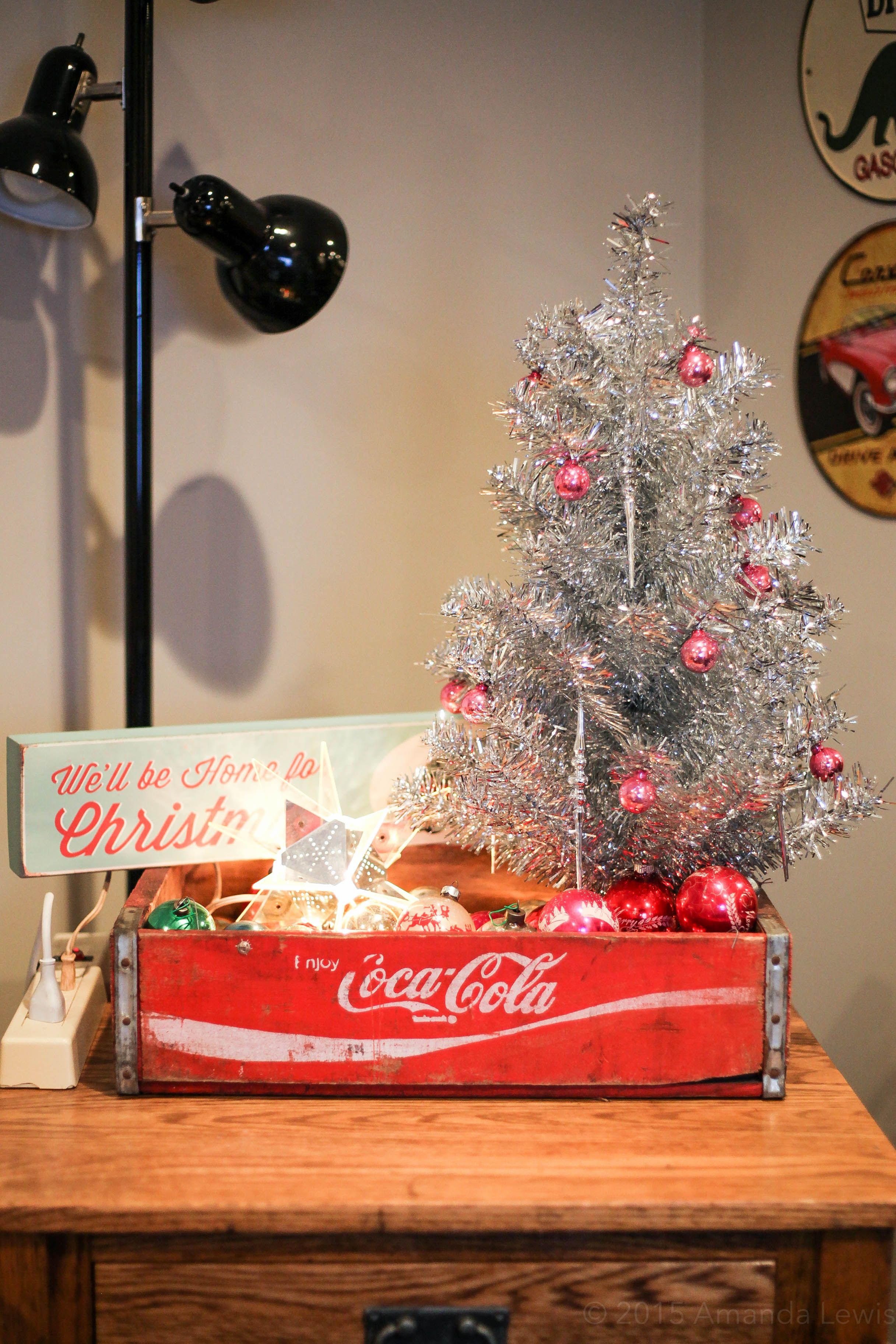 My vintage Christmas display! Inspired by the Vintage Sisters! :)