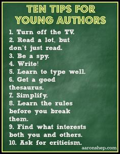 Tips for young authors
