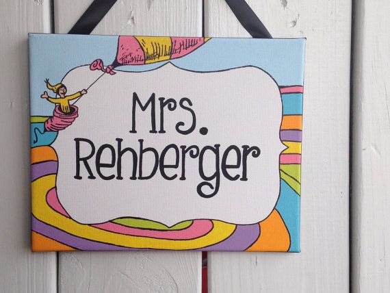 Oh The Places You\u0027ll Go, Dr Seuss inspired personalized name sign