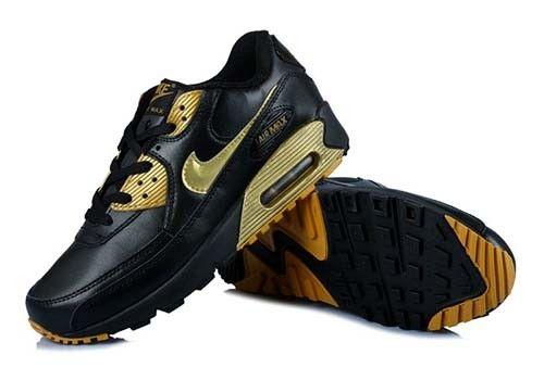 innovative design ca397 dc167 Nike Air Max 90 Essential Black Golden Mens Trainers