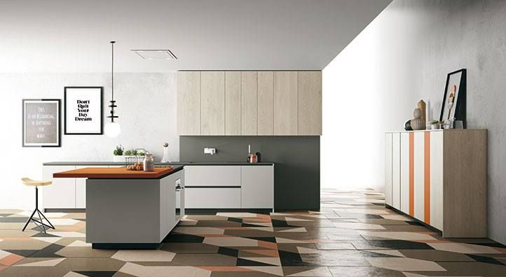 MATERIA by Doimo Cucine Spa #Cucina modello Materia con piano e ...