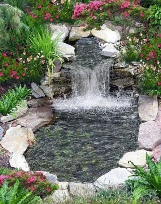84 Diy Backyard Waterfall Ideas To Beautify Your Home Garden In 2020 Waterfalls Backyard Backyard Water Feature Ponds Backyard