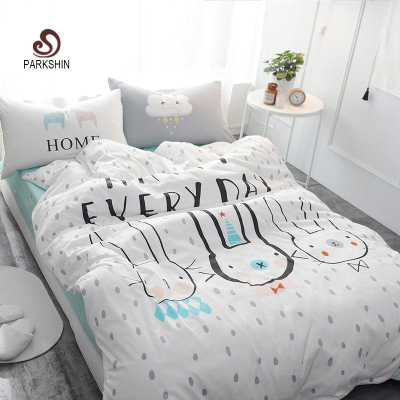 Parkshin Three Tuzkis Printed Bedding Set Kid Cute Bedspread Duvet