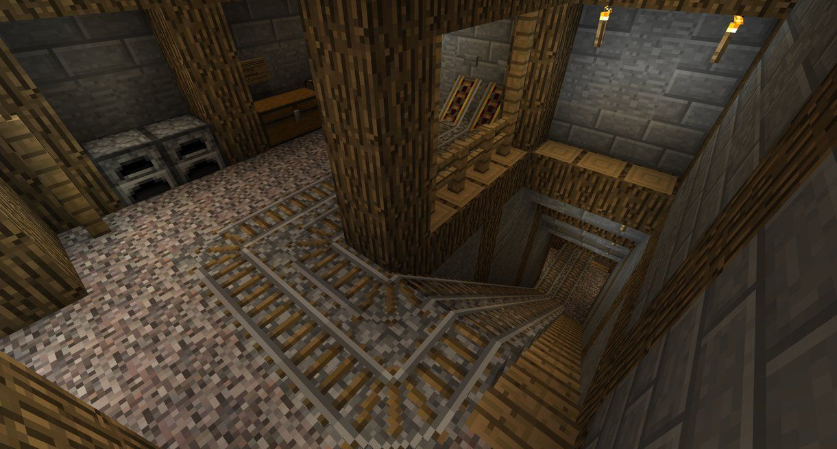 Minecraft Mining Shaft By TheNose90deviantartcom On