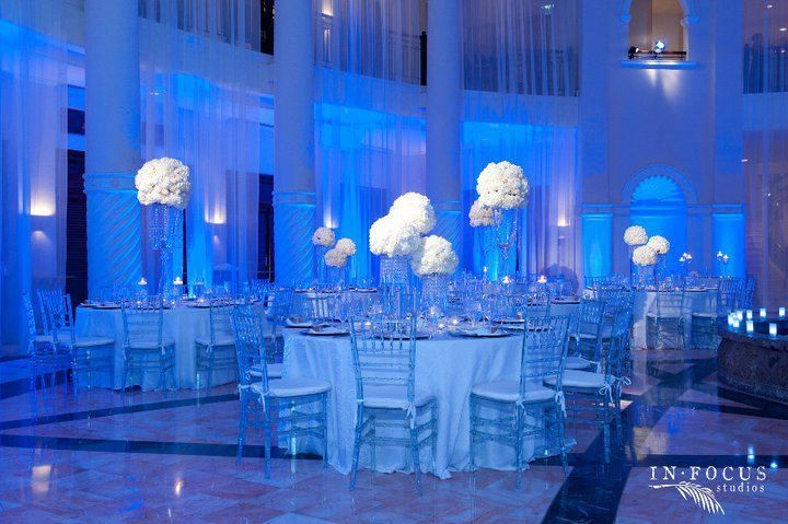 Uplighting All White Ivory Receptions