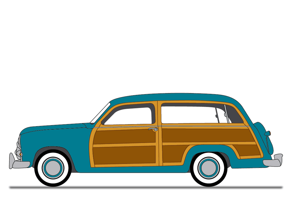 fotolia us vector tutorial 1950 ford u201cwoody u201d station wagon rh pinterest co uk clipart of woody station wagon Station Wagon Vector